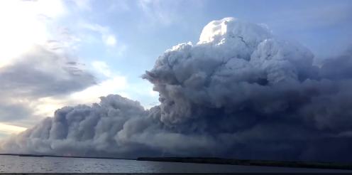 Pyrocumulous cloud