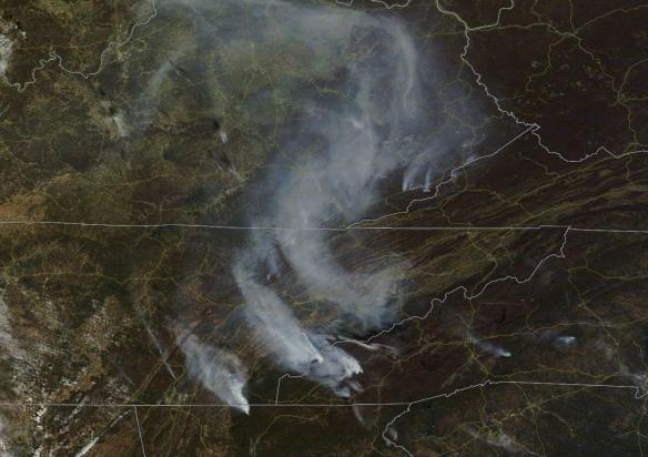 large-wildfires-smokey-mountains-november-7